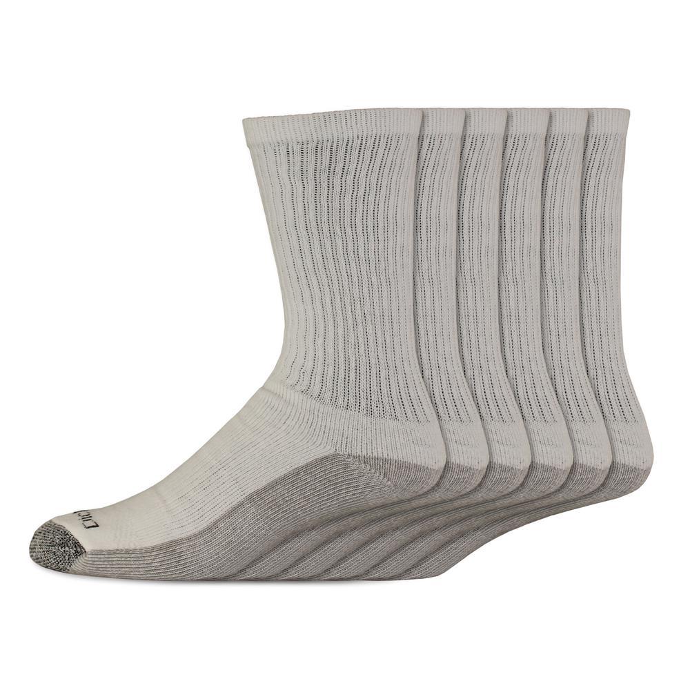 d8f1a911a4 Dickies Men's Dri Tech White Crew Sock-I11750 - The Home Depot