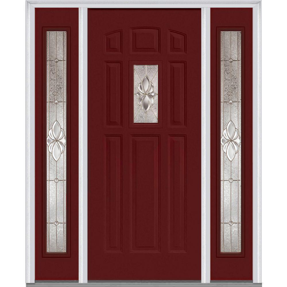 Red - 8 Panel - Steel - Front Doors - Exterior Doors - The Home Depot