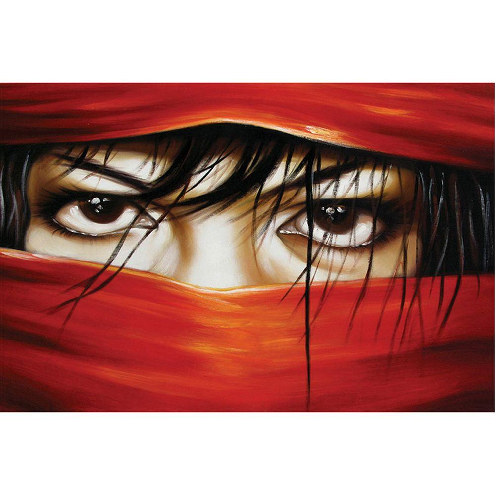 Yosemite Home Decor 47 in. x 31 in. Eyes Only Hand Painted Contemporary Artwork-DISCONTINUED