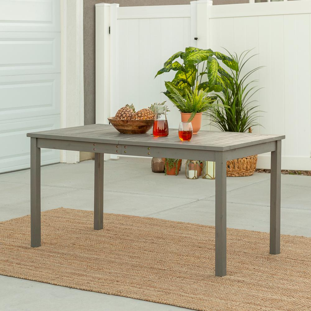 Walker Edison Furniture Company Grey Wash Rectangle Acacia ...