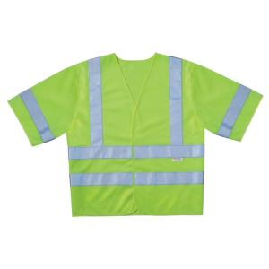 3M High-Visibility Yellow Class 3 Short Sleeve Safety Vest (Case of 5) by 3M