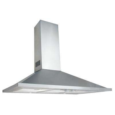 Valencia 30 in. Wall Mounted Ducted Chimney Range Hood with Light in Stainless Steel