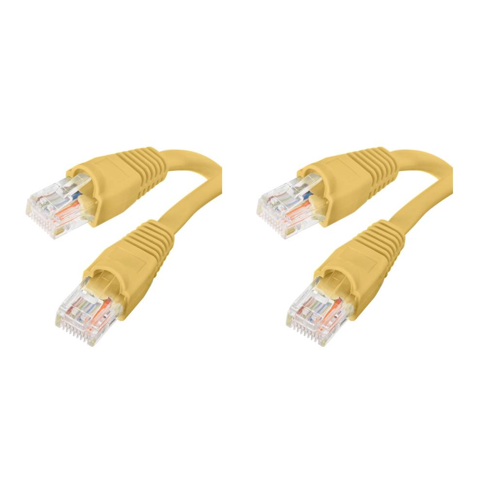 15 ft. CAT5e UTP Ethernet Cable, Yellow(2-Pack)