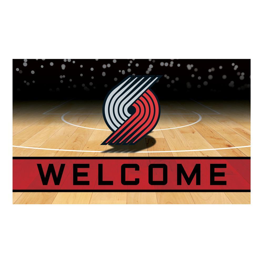627b6fe91fb1 FANMATS NBA - Portland Trail Blazers 18 in. x 30 in. Rubber Door Mat ...
