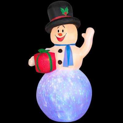 4 ft. W x 8 ft. H Inflatable Projection Kaleidoscope Snowman