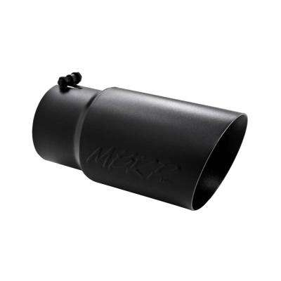 Universal Tip 6 O.D. Dual Wall Angled 5 inlet 12 length - Black Finish