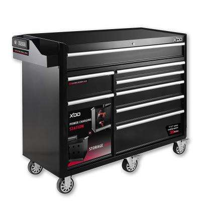 56 in. 8-Drawer Tool Chest Cabinet Mobile Workbench in Matte Black