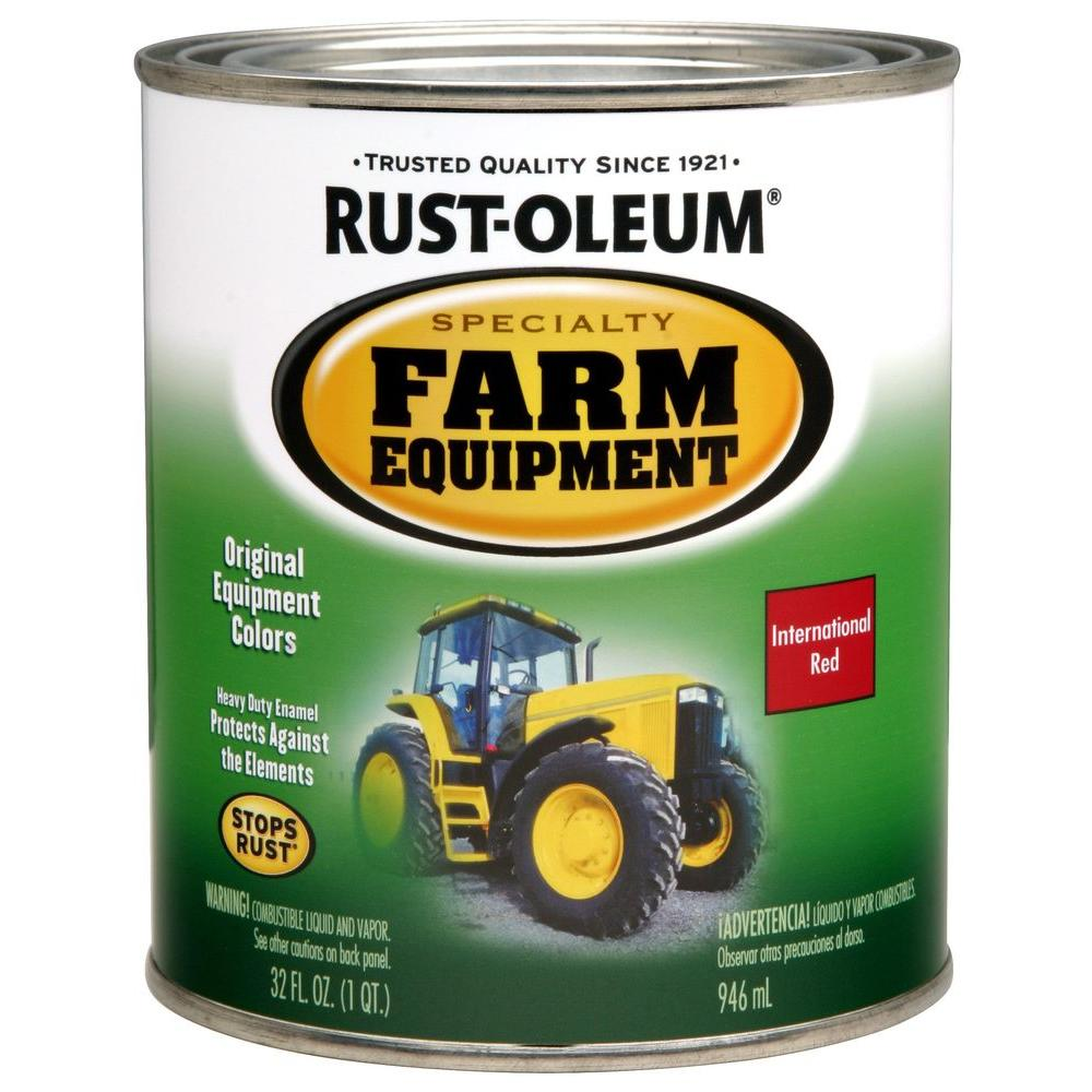 Rust-Oleum Specialty 1 qt. International Red Gloss Farm Equipment Paint (Case of 2)