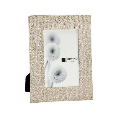 Ripple Texture 1-Opening 4 in. x 6 in. Silver Plated Picture Frame