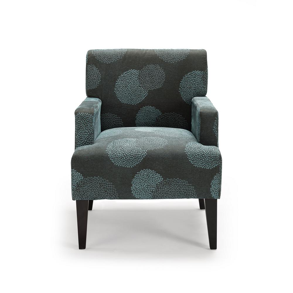 null Tux Blue Sunflower Accent Chair