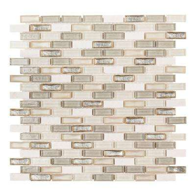 Afternoon Tea 11.5 in. x 12.25 in. x 6 mm Glass/Stone Mosaic Wall Tile