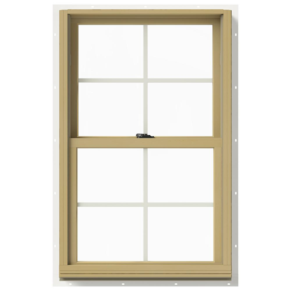 Jeld wen in x 40 in w 2500 double hung aluminum for Buy double hung windows online
