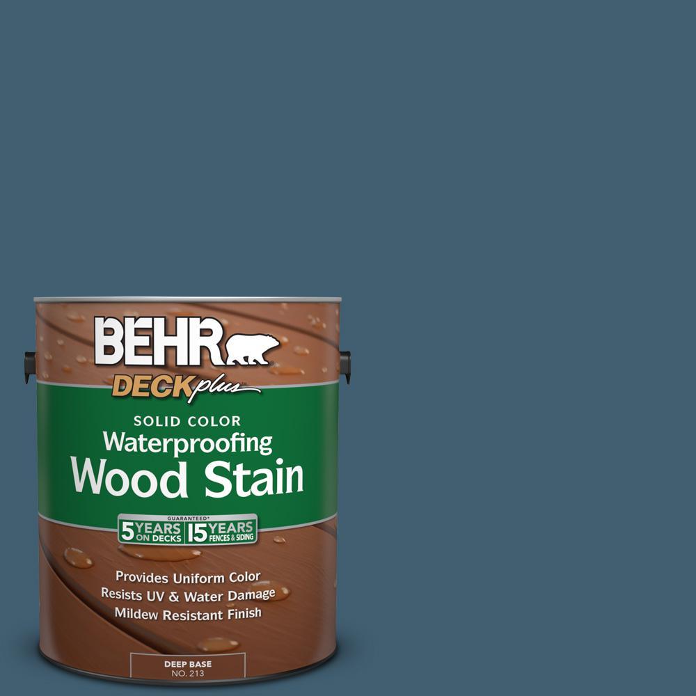 1 gal. #SC-107 Wedgewood Solid Color Waterproofing Wood Stain