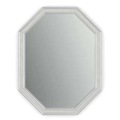 26 in. x 34 in. (M2) Octagonal Framed Mirror with Standard Glass and Float Mount Hardware in Chrome and Linen