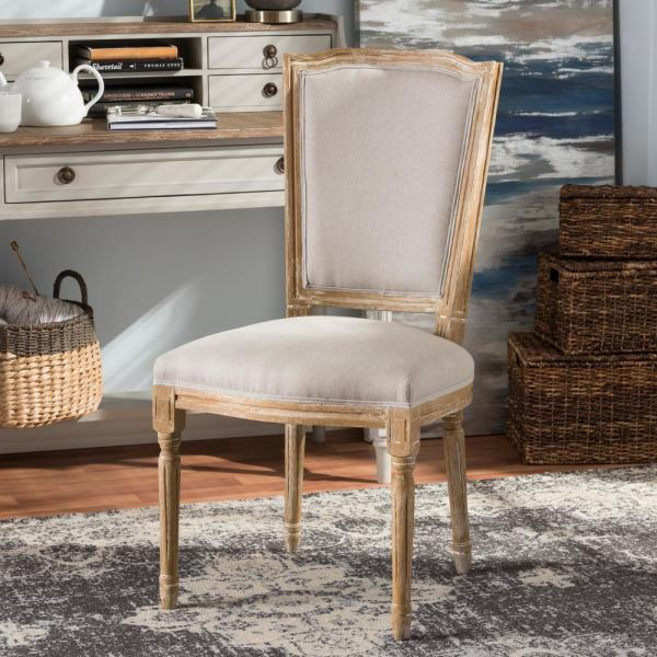 Baxton Studio Cadencia Beige Fabric Upholstered Dining Chair 28862-7334-HD