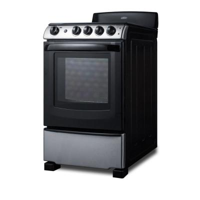 24 in. 2.9 cu. ft. Electric Range in Stainless Steel