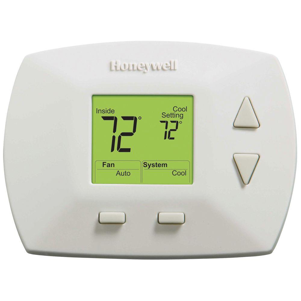 Non Programmable Thermostats The Home Depot Honeywell Sail Switch Wiring Diagram Block And Schematic Diagrams Deluxe Digital Thermostat