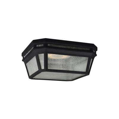 Londontowne Black Integrated LED Outdoor Flush Mount
