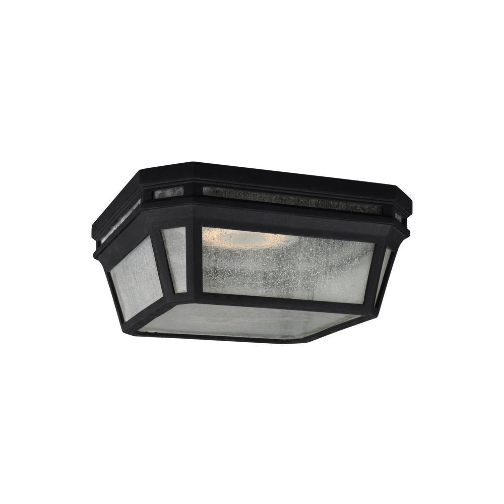 Londontowne Black Integrated LED Outdoor Flush Mount