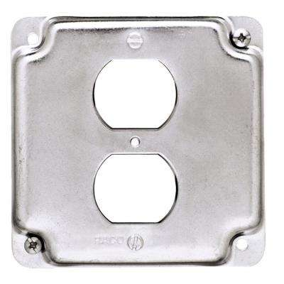 4 in. Square Exposed Work Cover for Duplex Receptacle