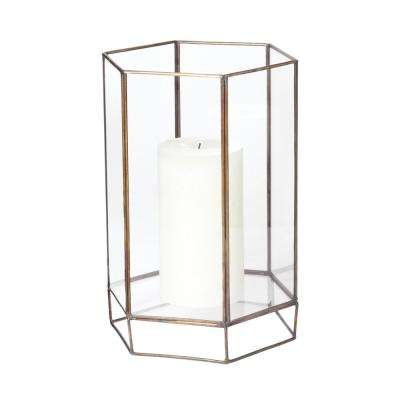 11 in. Glass Oriel Hurricane Candle Holder