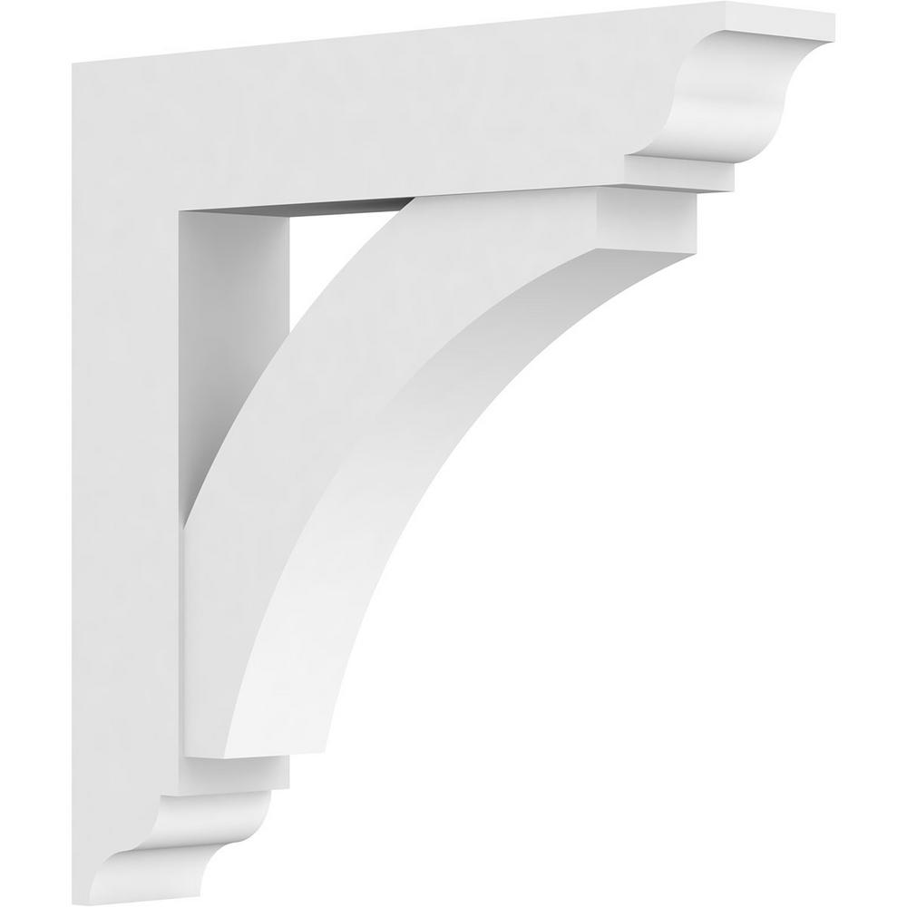 Ekena Millwork 5 In X 30 In X 30 In Thorton Bracket With Traditional Ends Standard Architectural Grade Pvc Bracket Bktp05x30x30thr01 The Home Depot