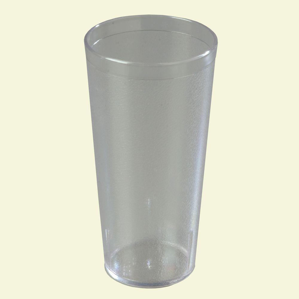 Carlisle 24 oz. SAN Plastic Stackable Tumbler in Clear (Case of 72)