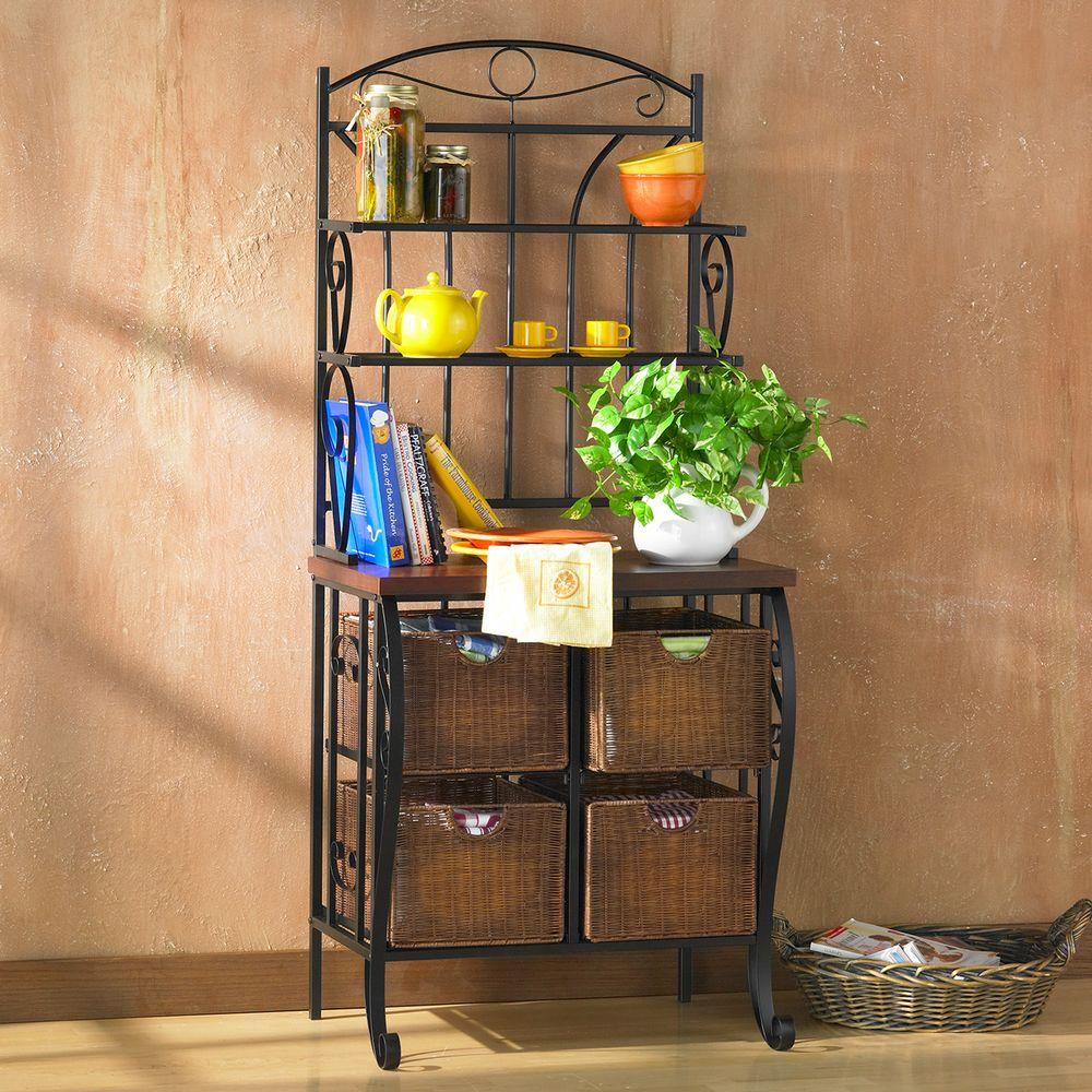 Southern Enterprises Black Baker S Rack