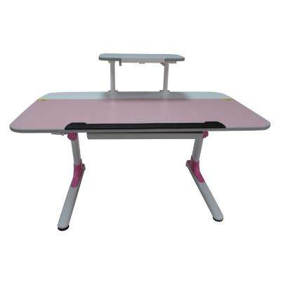 Youth's Ergonomic Desk with Keyboard Tray in Pink