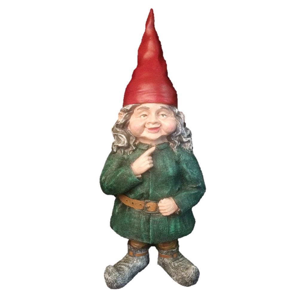 "Gnome In Garden: HOMESTYLES 8.5 In. H ""Zelda"" The Female Garden Gnome"