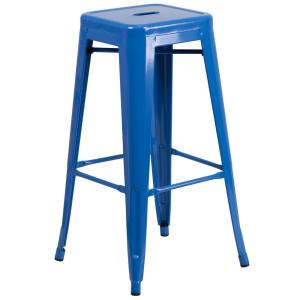 30 in. Blue Bar Stool