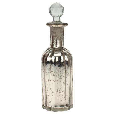 3 in. x 9.5 in. Antique Mercury Glass Bottle with Stopper