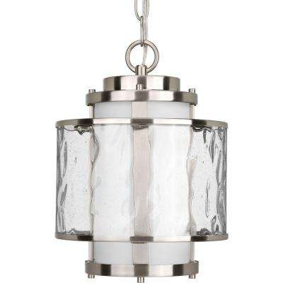 Bay Court Collection Brushed Nickel Outdoor Hanging Lantern