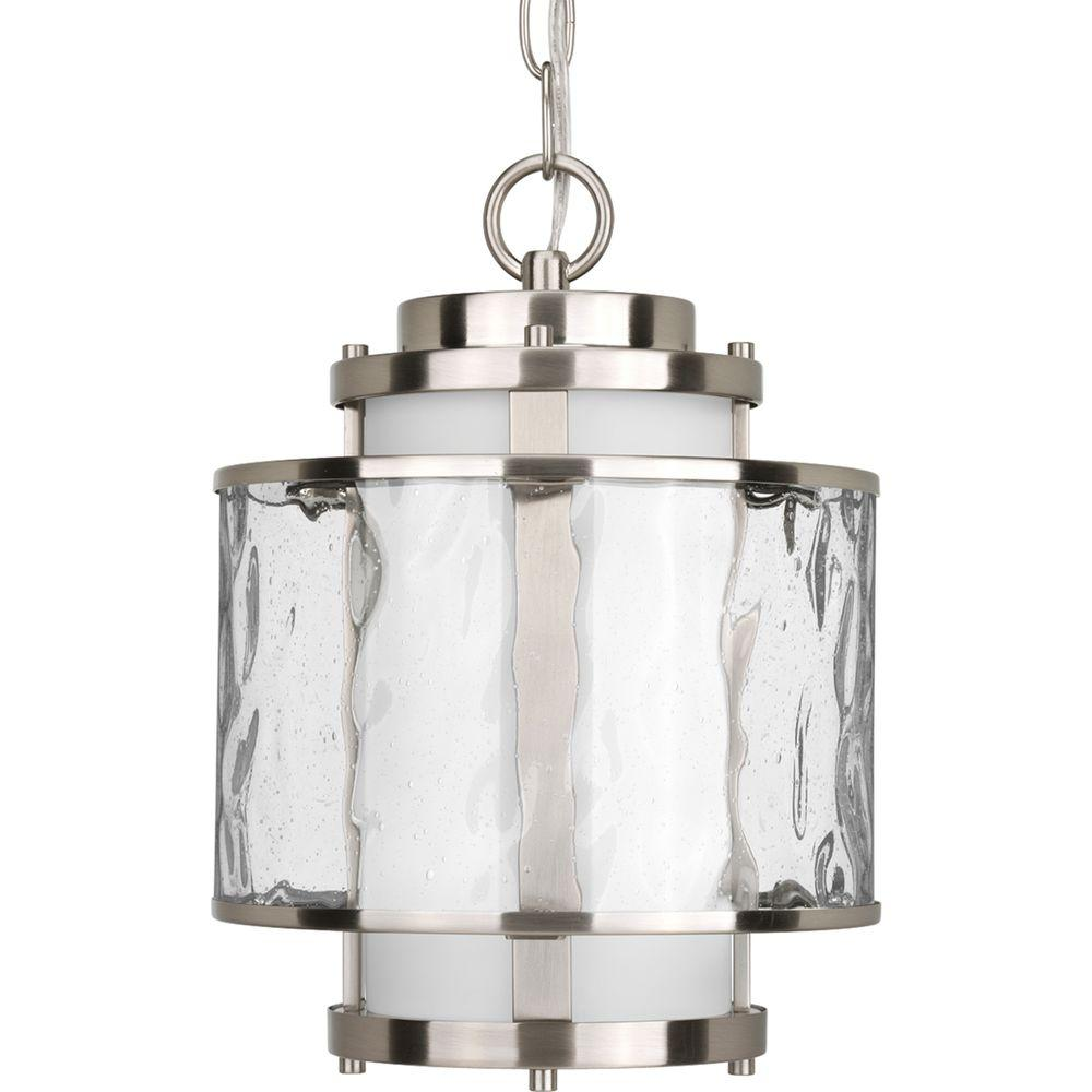 outdoor pendant lighting fixtures medium pendant progress lighting bay court collection brushed nickel outdoor hanging lantern