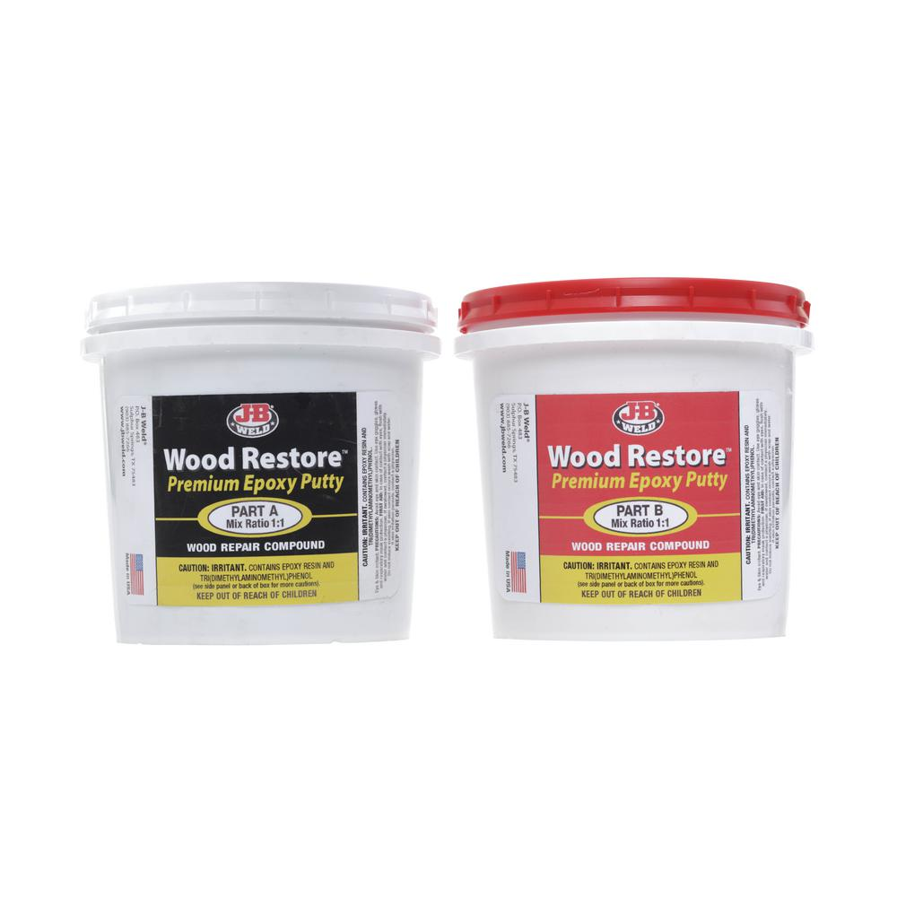 J-B Weld Wood Restore Premium Epoxy Putty - 32 oz (CASE OF 3)
