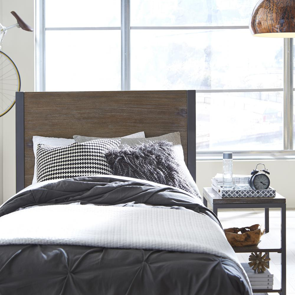 Home styles barnside metro driftwood twin headboard 5053 for Bed styles images