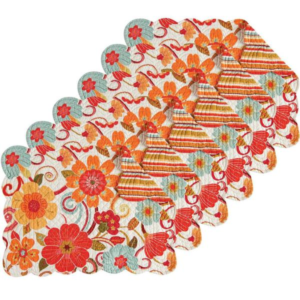 C & F Home Giselle Orange Placemat (Set of 6) 862621662S6