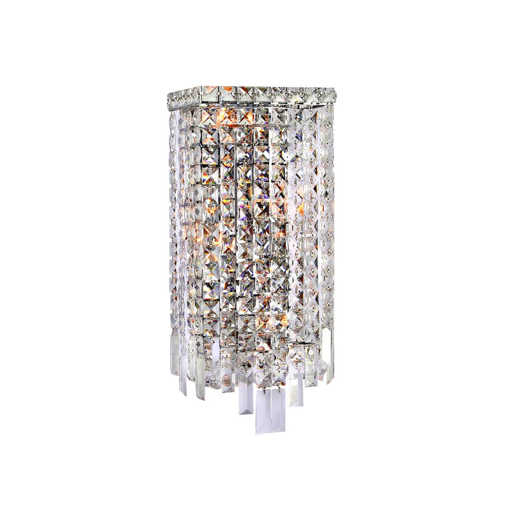 Cascade 4-Light Chrome Sconce with Clear Crystal