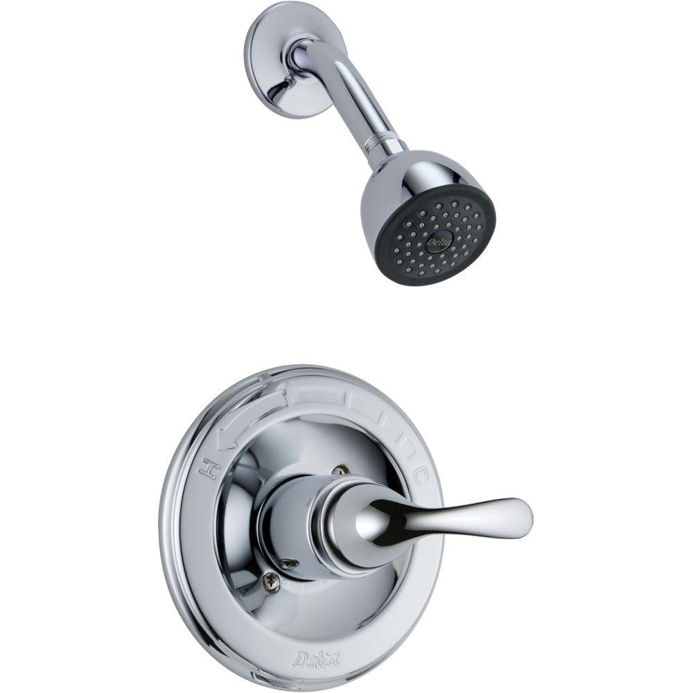 Delta Classic 1-Handle Shower Faucet Trim Kit in Chrome (Valve Not ...
