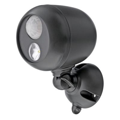 Outdoor 140 Lumen Battery Powered Motion Activated Integrated LED Spotlight, Brown