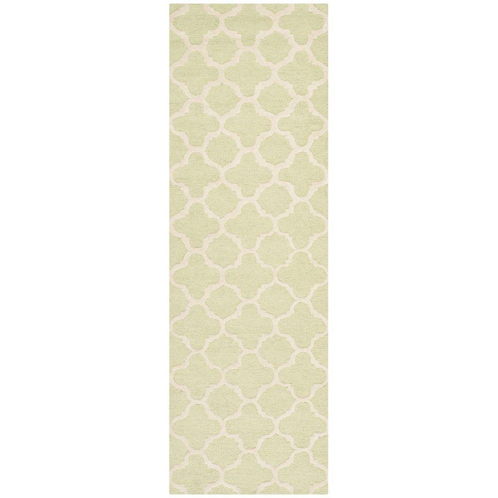 Cambridge Light Green/Ivory 2 ft. 6 in. x 10 ft. Runner