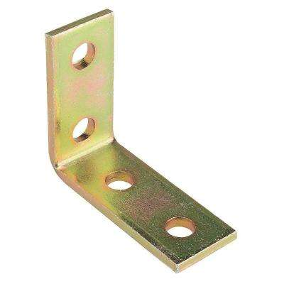 4-Hole 90° Angle Strut Bracket - Gold Galvanized