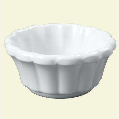 1.6 oz. Melamine Scalloped Ramekin in White (Case of 48)