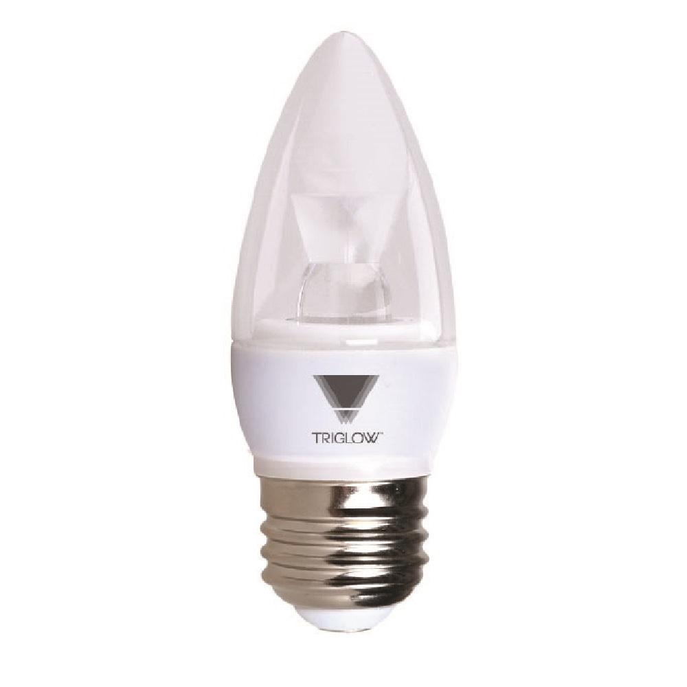 Triglow 40 Watt Equivalent B11 Dimmable E26 Base Candelabra Torpedo Led Light Bulb Soft White 3000k