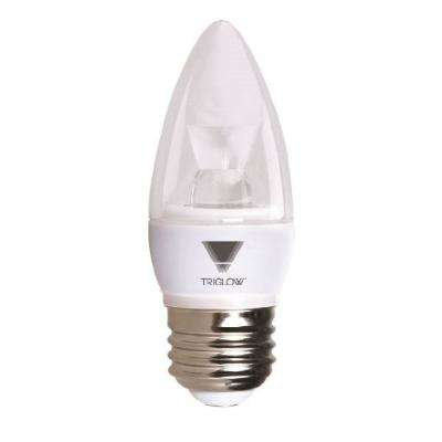 40-Watt Equivalent B11 Dimmable E26 Base Candelabra Torpedo LED Light Bulb Soft White 3000K