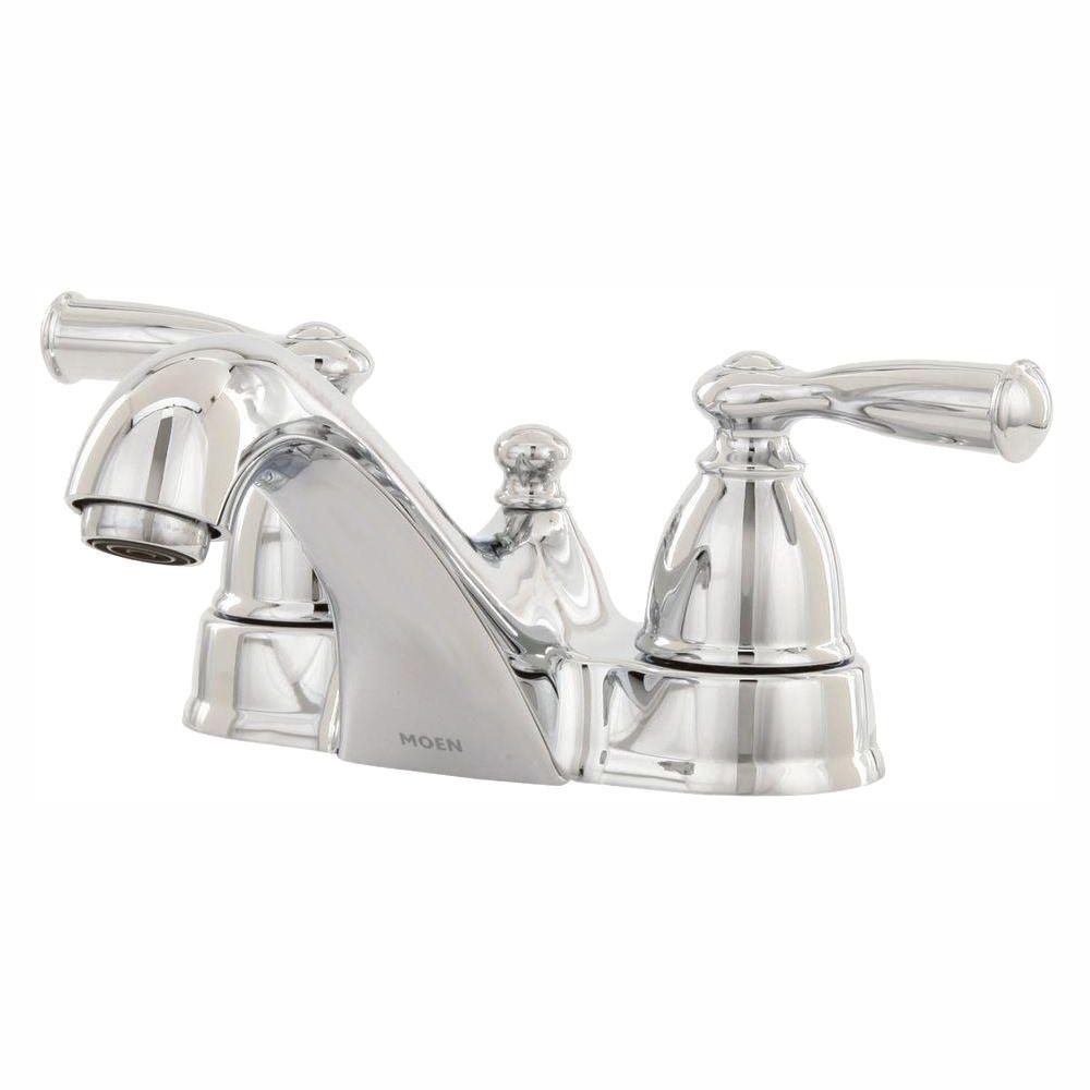 Banbury 4 in. Centerset 2-Handle Low-Arc Bathroom Faucet in Chrome