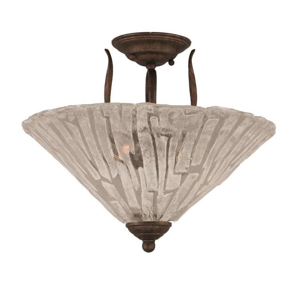Filament Design Concord 3 Light Ceiling Bronze Incandescent Semi Flush Mount
