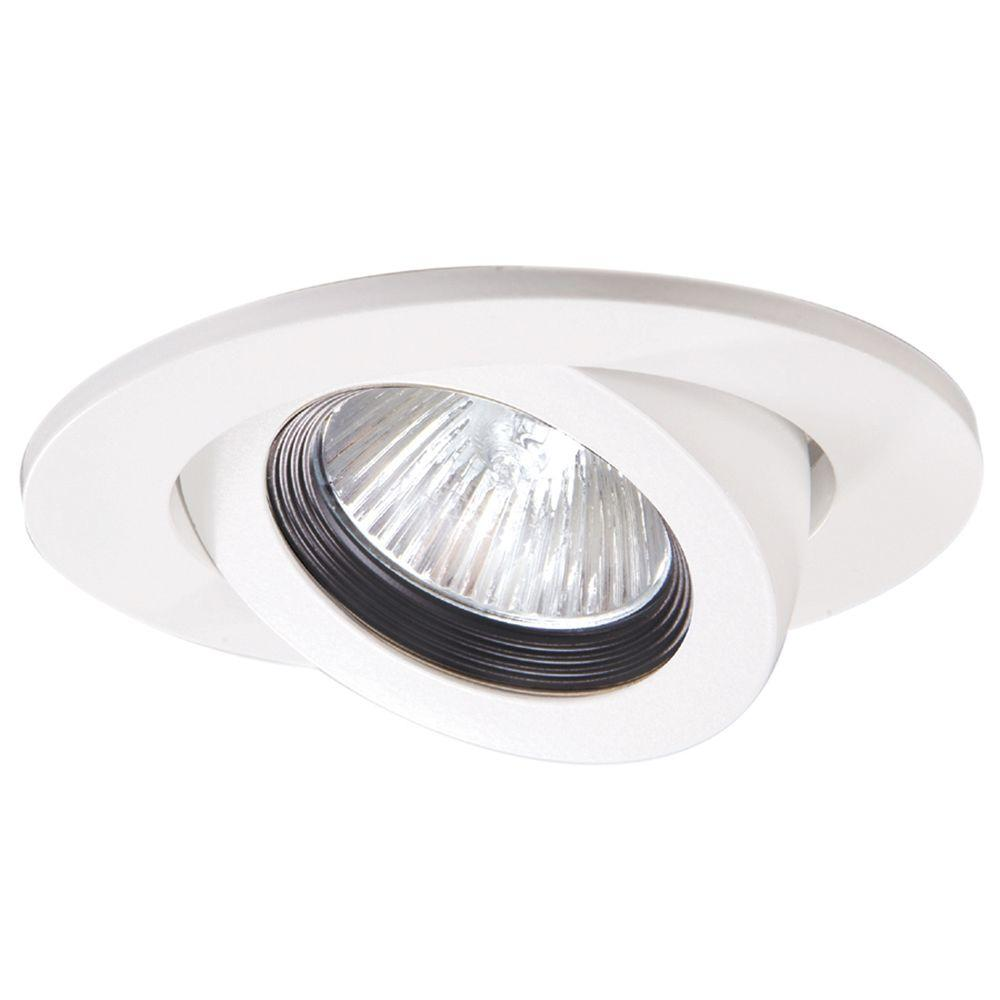 Halo 3 in white recessed ceiling light trim with adjustable gimbal white recessed ceiling light trim with adjustable gimbal mozeypictures Image collections
