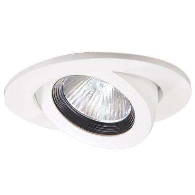 3 in. White Recessed Ceiling Light Trim with Adjustable Gimbal
