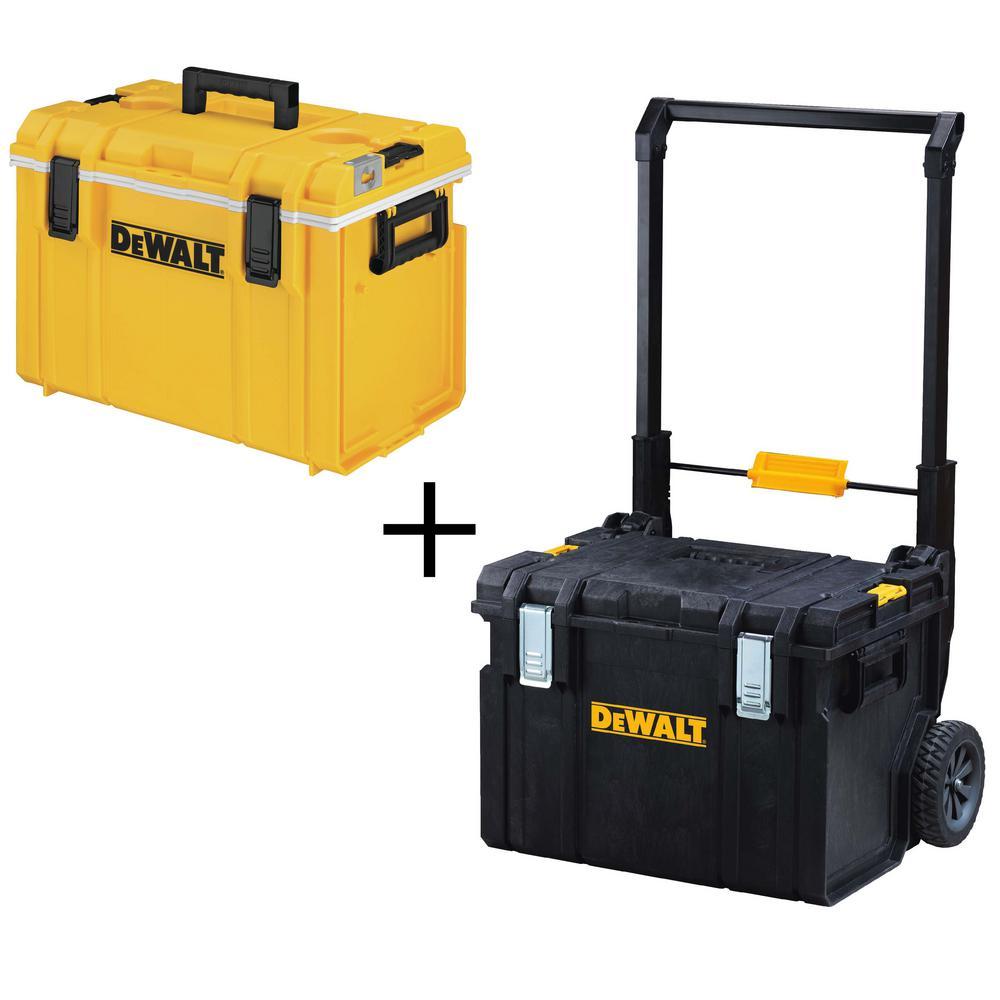 TOUGHSYSTEM 22 in. Tool Box Cooler with Bonus 22 in. 17 Gal. Mobile Tool Box